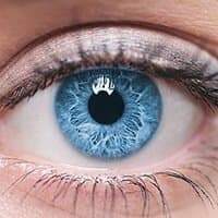 Close up picture of blue eye