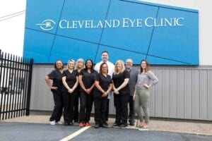 Cleveland Eye Clinic Team outside